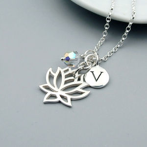 Lotus Flower Personalised Necklace