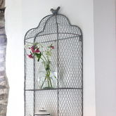Perching Bird Metal Wall Shelves - garden