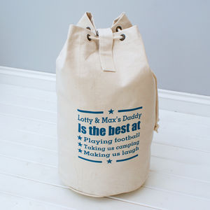 Personalised 'You're The Best' Canvas Duffle Bag