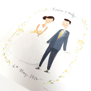 Personalised Wedding Portrait - canvas prints & art