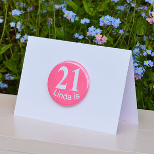 Personalised '21st' Birthday Card