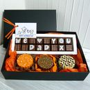 Personalised Gift Box Of Chocolate For Dads