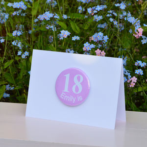 Personalised '18th' Birthday Card