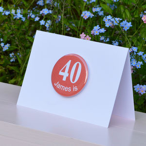 Personalised '40th' Birthday Card