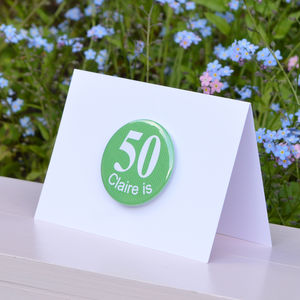 Personalised '50th' Birthday Card