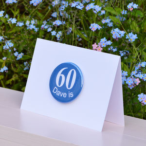 Personalised '60th' Birthday Card