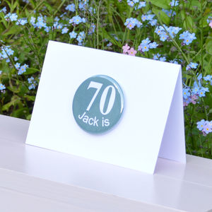 Personalised '70th' Birthday Card