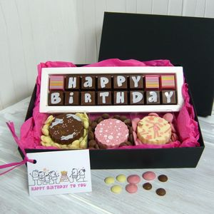 Personalised Happy Birthday Gift Box Of Chocolates - food & drink gifts
