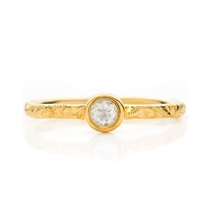 Hera Ethical Fairtrade Diamond Engagement Ring - diamonds