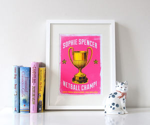 Personalised Celebration Trophy Print