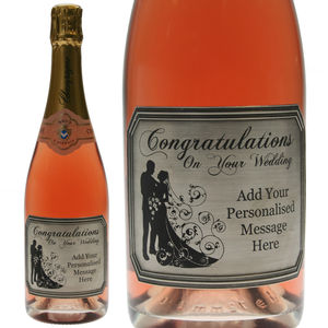Congratulations Pewter Rose Champagne - sale
