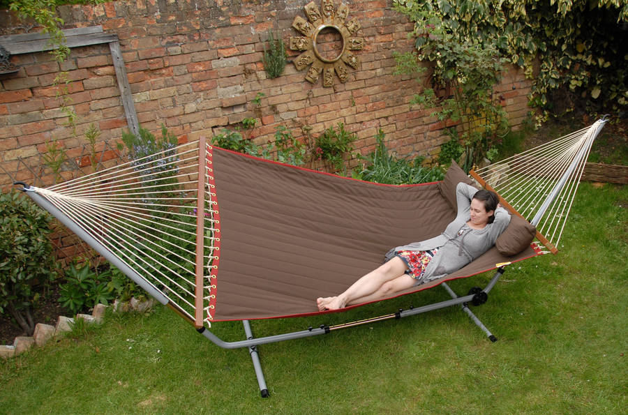 Maui Double Hammock Earth With Spreader Bars
