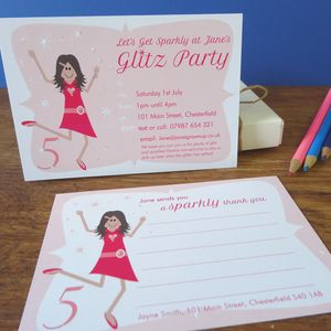 Glitz And Glamour Party Invitation Or Thank You Card - children's parties