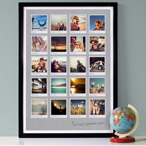Personalised Polaroids Album Print - prints & art
