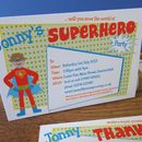 Superhero Party Invitation Or Thank You Cards