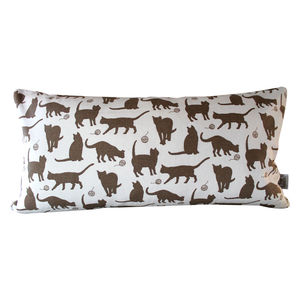 Moggy Cushion 25 X 50 Cm