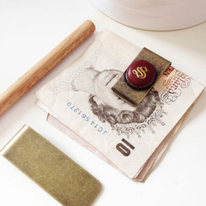 Personalised Vintage Monogrammed Money Clip - wallets