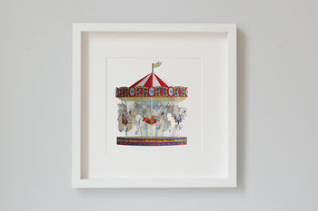 Carousel 3 D Nursery Art