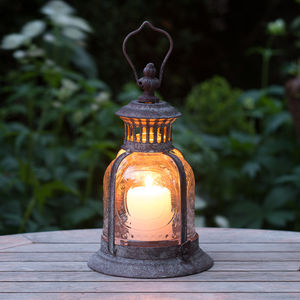 Fleur De Lys Garden Candle Lantern - outdoor decorations