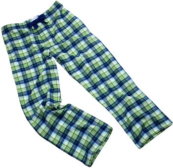 Green Check Pyjama Bottoms For Teenagers And Adults