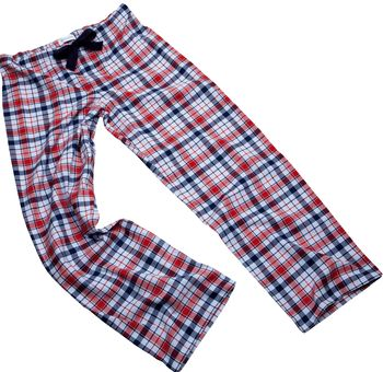 Navy/Red Check Pyjama Bottoms For Teenagers And Adults