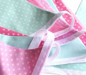 Cotton Bunting 'Pink Polka Dots' - children's room