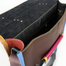 Leather Colorful Satchel Crossbody Messenger Bag Unisex