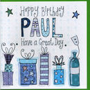 Personalised Male Birthday Present Card