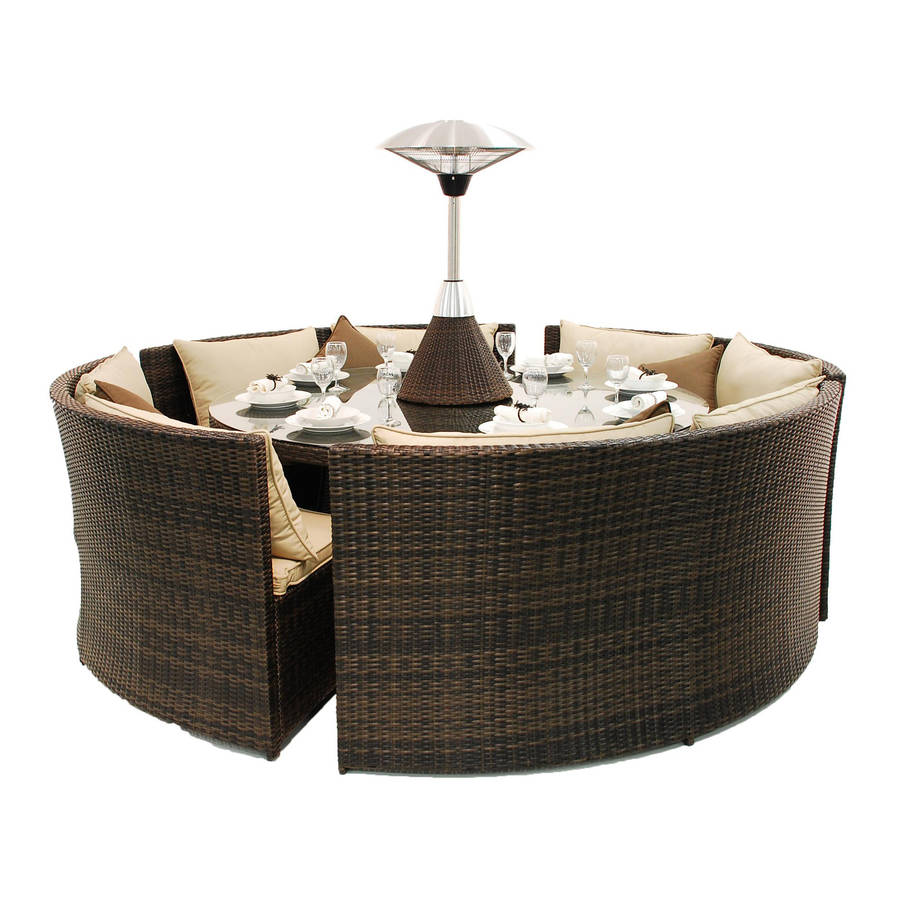 rattan round table dining sofa set by out there exteriors. Black Bedroom Furniture Sets. Home Design Ideas