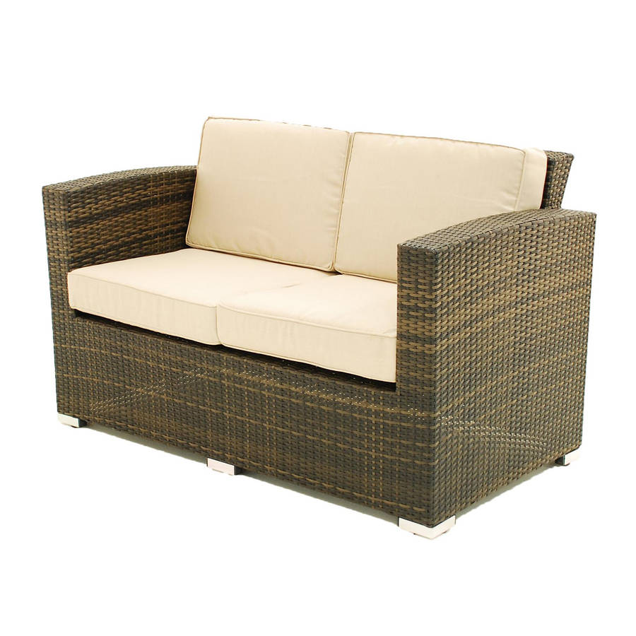 two seater sofa rattan garden set by out there exteriors