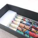 Set Of Six Superhero Colouring Pencils