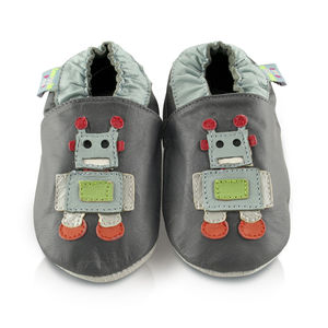Robot Soft Leather Baby Shoes - shoes & footwear