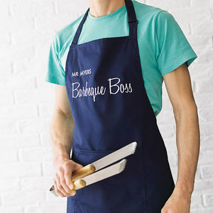 Personalised BBQ Apron - top 100 home gifts for dad