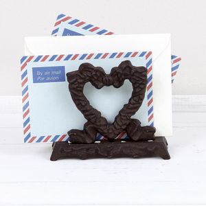 Cast Iron Heart Letter Store - stationery & desk accessories