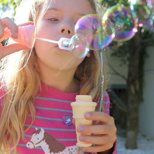 Ice Cream Cone Bubble Blower For Party Bags