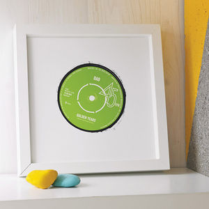 Personalised Record Label Print - best gifts for dads