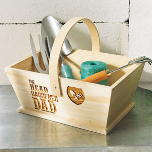 Personalised 'The Head Gardener' Trug - potting shed essentials