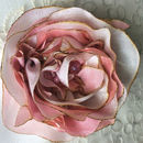 Colour Silk Rose Hair Clip