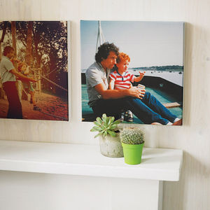 Personalised Instagram Photo Canvas Print - gifts for fathers
