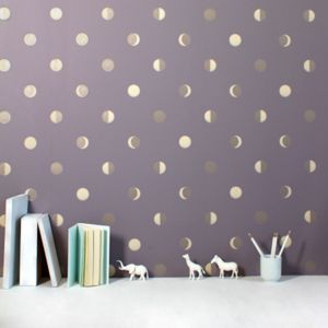 Moon Crescents Wallpaper Sample - children's room