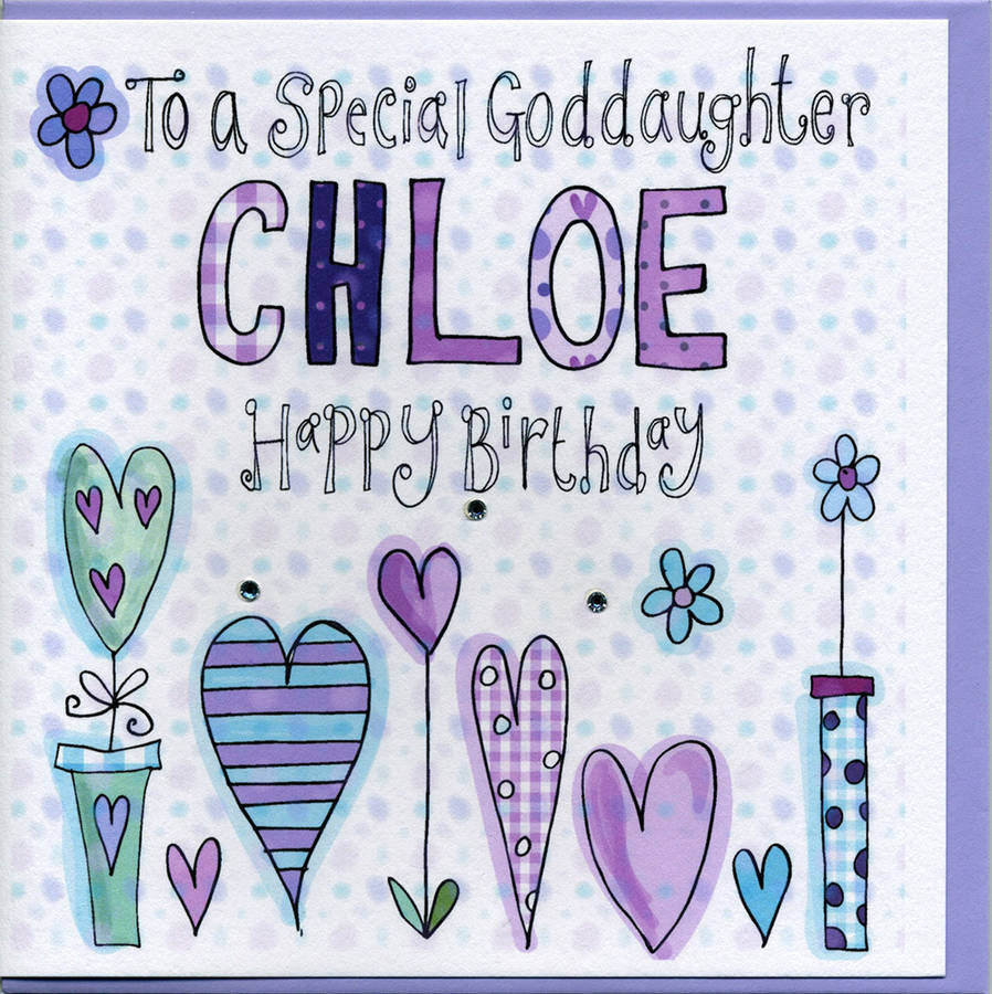personalised goddaughter birthday card by claire sowden design – Goddaughter Birthday Cards