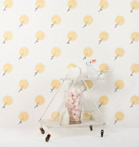 Parisian Dandelions Wallpaper Sample - baby's room