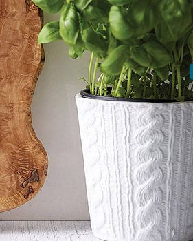 Ceramic Knitted Effect Plant Pot
