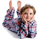 Red And Navy Check Pyjamas For Boys Aged Two To Eight