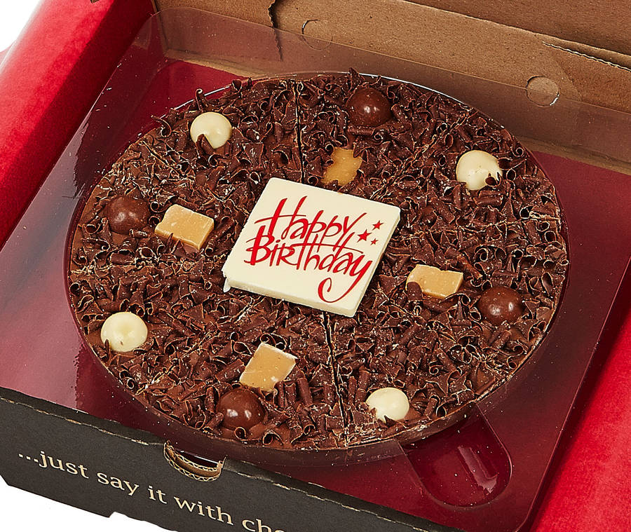 Happy Birthday Chocolate Pizza By The Gourmet Chocolate