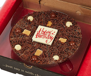 Happy Birthday Chocolate Pizza - novelty chocolates