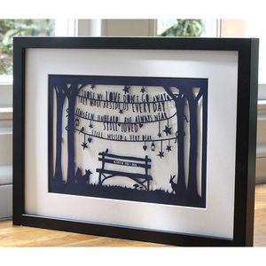Personalised 'In Loving Memory' Print Or Papercut - art & pictures