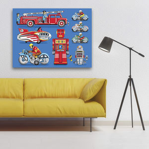Pop Art Tin Toy Print No1 - modern & abstract