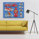 Pop Art Tin Toy Print No1
