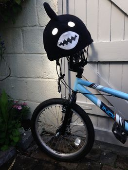Child's Shark Hi Vis Helmet Cover
